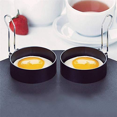 Stainless Steel Egg Ring,2 Pcs Round Breakfast Household Egg Mold Tool Cooking Tool Omelette (2 Pcs)