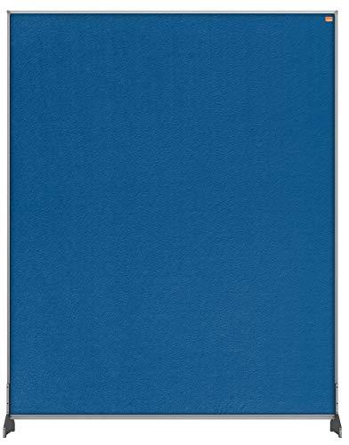 Nobo Impression Pro Schreibtisch-Trennwand, Schutztrennwand für Social Distancing, Hygieneschutz, Filz, Blau, 800x1000mm, 1915507