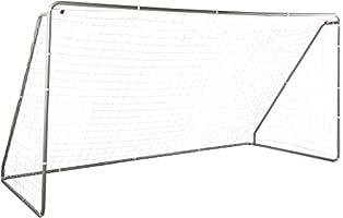 Amazon Basics Soccer Goal Frame With Net - 12 x 6 x 5 Foot, Steel Frame