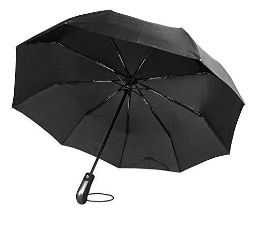 Regenschirm Schirm Taschenschirm Umbrella Trekkingschirm Wanderregenschirm Sturmfest Herren, windfest 150 km/h wasserabweisend Teflon-Beschichtung klein leicht transparent 95 cm TRAVANDO