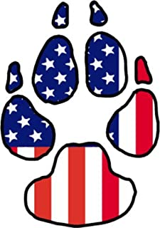 WickedGoodz American Flag Dog Paw Vinyl Window Decal - Dog Bumper Sticker - Perfect Dog Owner Gift