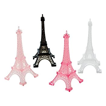 Amscan 398185 Day in Paris Eiffel Tower Party Decorations 5  x 2.25  4 Ct.