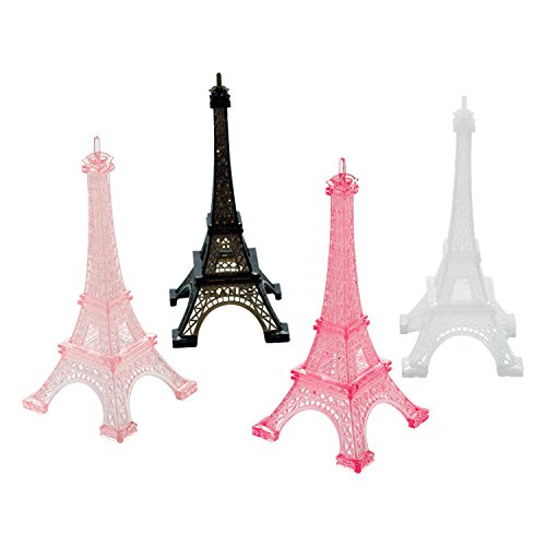 Amscan 398185 Day in Paris Eiffel Tower Party Decorations, 5 x 2.25, 4 Ct.