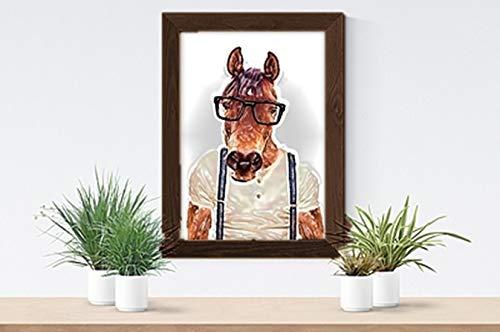 Parksmoonprints - Bretelle per cavalli, formato A4, motivo geometrico umanizzato