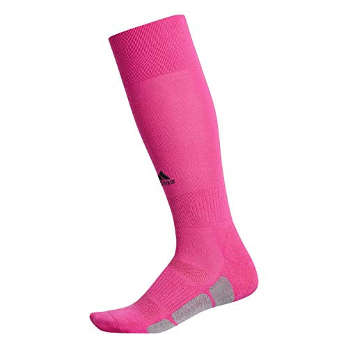 adidas Unisex Utility All Sport Socks (1-Pair), Shock Pink/Black/Light Onix, 13C-4Y