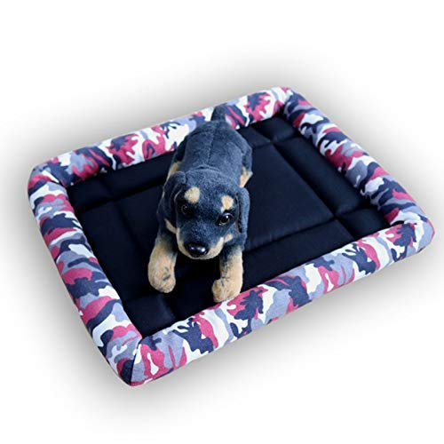 GBX Four Seasons Universal Pet Supplies Zwinger Sommer Cool Nest Pet Nest Abnehmbare Waschhunde Indoor: Et Cats Rest Schlafen Ruhen Nettes Haus,Cartoon blau,L