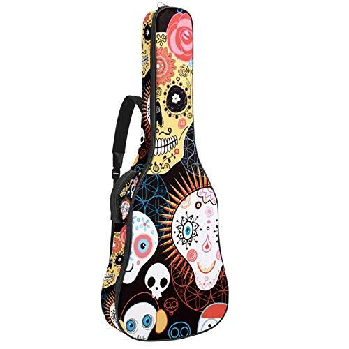 Funda acolchada para guitarra eléctrica, con acolchado grueso, doble correa ajustable para...