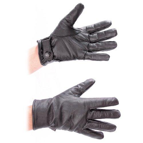 MIL-TEC BW Lederhandschuhe gefüttert (Schwarz/XL)