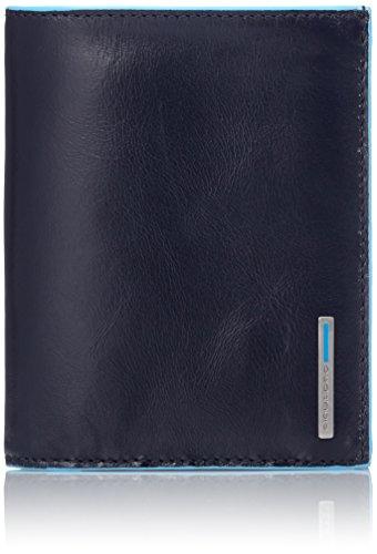 Piquadro PU1740B2/BLU2 Blue Square Portafoglio, Blu, 12 cm