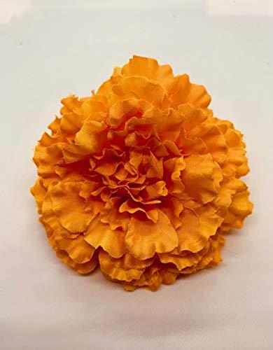 Marigold Artificial Flower Hair Clip/Pin Brooch (Orange)