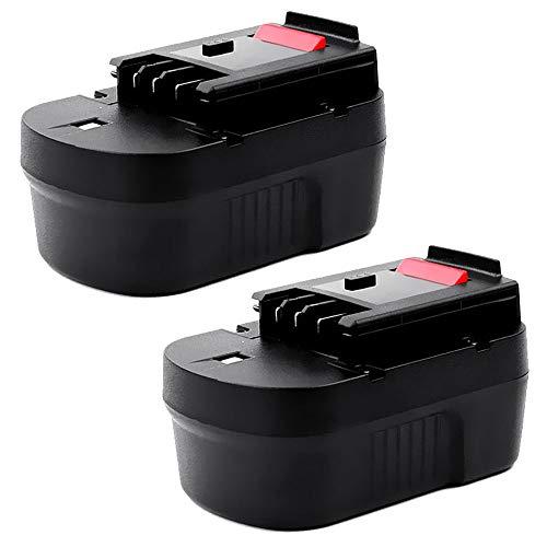 CELLONIC® (2X Premium Akku (14.4V, 3Ah, NiMH) kompatibel mit Black & Decker CD14S / CD14SFK / CL14 / CL14K / CP14 / CP14K / CP141 / CP141K - A14, A1714, HPB14 Ersatzakku Batterie Werkzeugakku