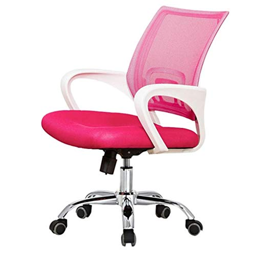 SHIJIAN Schreibtischstuhl mit mittlerer Rückenlehne Mesh-Aufgabe Bürostuhl Swivel Computer Chair Operators Sessel Heben und Drehen Funktion, elastische Taille Unterstützung Hohe Tragfähigkeit
