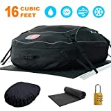YOULERBU Rooftop Cargo Carrier & Waterproof Cargo Carrier Bag with Protective Mat Heavy Duty Rooftop Luggage Storage16 Cubic Feet for All Vehicle Roof Racks