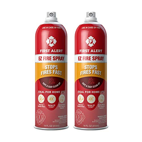 First Alert Fire Extinguisher | EZ Fire Spray Fire Extinguishing Aerosol Spray, Pack of 2, AF400-2