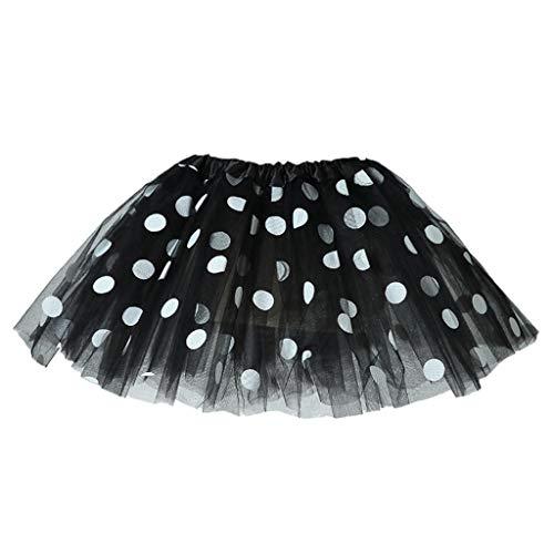 Janly - Vestido para niña de 0 a 10 años de edad, vestido de tutú de lunares, falda de tul de ballet de tul