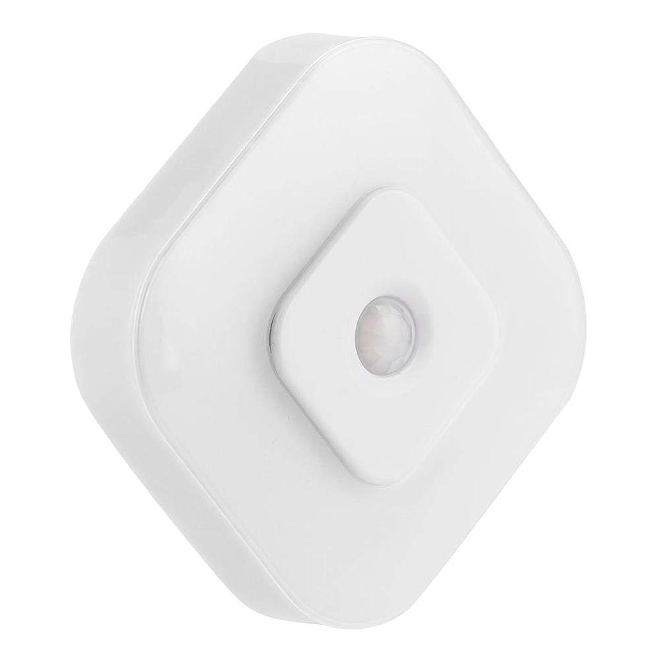 眼価値牛人体の誘導の携帯用LEDの夜ライトモーションセンサーの正方形の形の屋外の家(white)