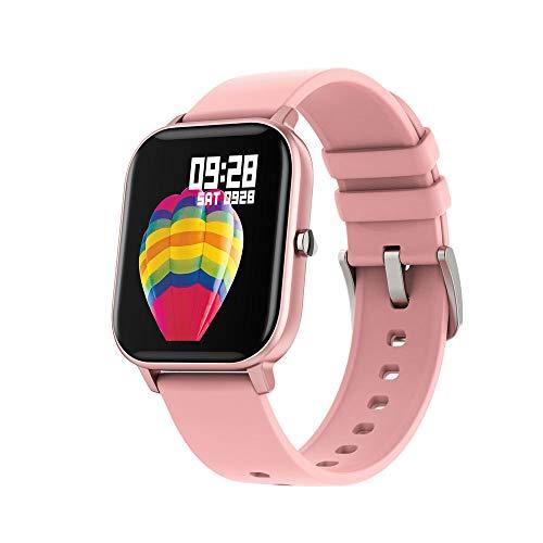 Mopoq Smart Watch, wasserdicht IP67, 1,4-Zoll-Farb-Vollbild-Touch-Puls-Monitor, Smart-Unterstützung Motion Tracker, Bluetooth Pedometer mit Schlaf-Monitor, Geeignet for 2 Band Android- oder iOS-Smartp