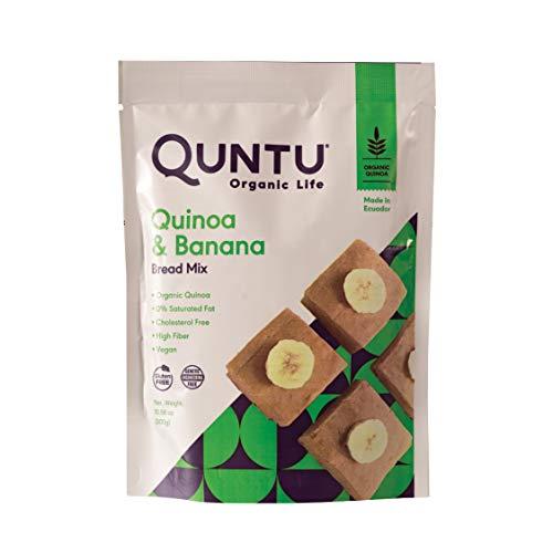 Quntu Quinoa Banana Bread Bakery Mix. Gluten Free, Vegan, Non-GMO | 10.58 oz Bag