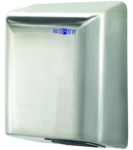Nofer 01451.S Secamanos BIGFLOW Sensor Electrico Acero INOX Satinado, Plata, 323x253x152