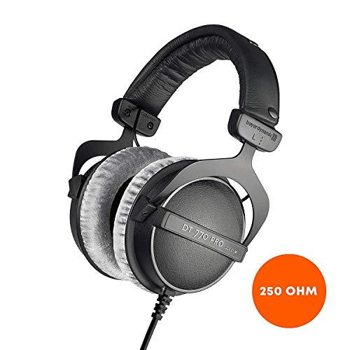 beyerdynamic DT 770 PRO 250 Ohm Over-Ear Studio Headphones in Black. Closed...