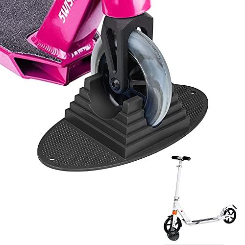 KNMY Soporte para patinete, soporte para patinete con soporte extra estable, apto para scooters, trick Scooters, Stunt Scooter, diseño antideslizante para almacenamiento y seguridad