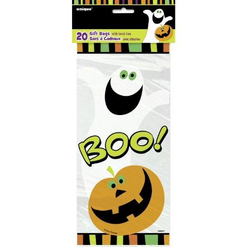 Party Showroom Halloween - 20 Sacs à Bonbons Citrouille et fantome