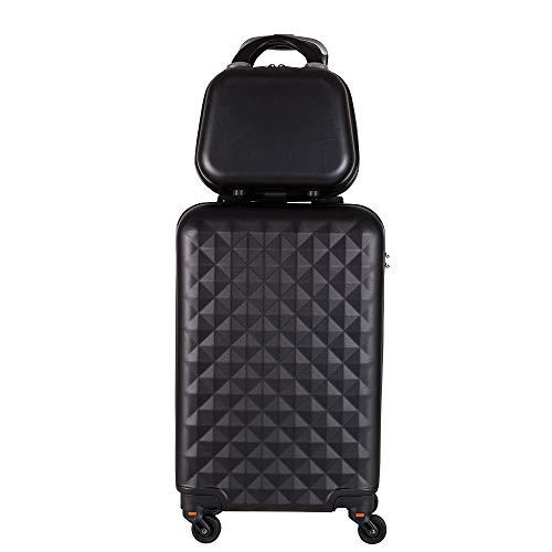 Kit mala bordo com frasqueira de mao em ABS - Roncalli Cups (Preto)