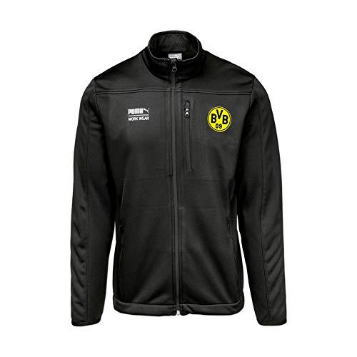 Puma Work Wear Herren Borussia Dortmund Softshell Arbeitsjacke mit Vereinslogo vom BVB - Anthrazit - Gr. L
