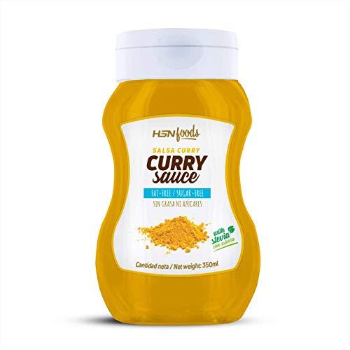 Salsa Curry de HSN - Sin Grasa, Baja en Azúcar, Edulcorado con Estevia, Apto Vegetarianos - 350ml