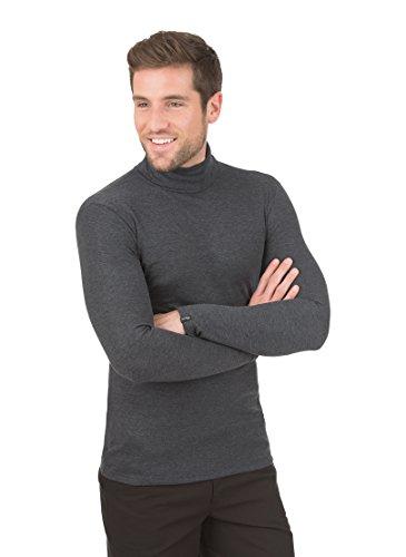 Trigema Rollkragen-Shirt Homme, Gris, XX-Large (Taille Fabricant: XXL)