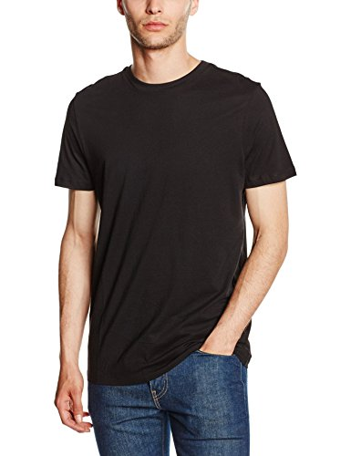 New Look 3627702 T-Shirt, Nero, S Uomo