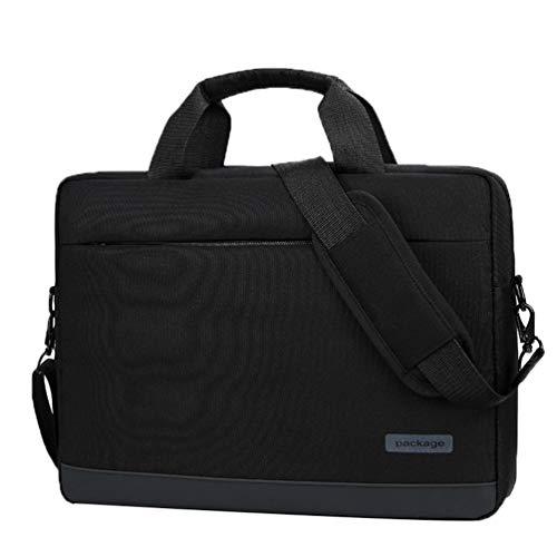 LaoZan Bolsa para el Netbook Laptop Bolsa para Ordenador Portátil Robusto para Accesorios Acolchadas Reforzadas (Negro#2,14)