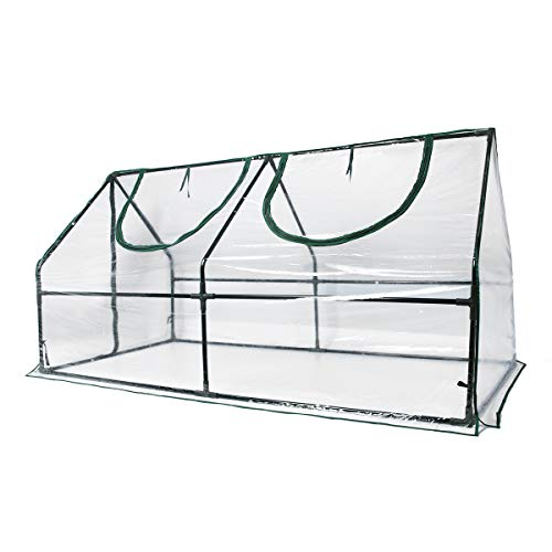 Quictent Waterproof UV Protected Reinforced Mini Cloche Greenhouse 95' WX 36' D X 36' / 71' WX 36' D X 36' H Portable Green Hot House- 50 Pcs T-Type Plant Tags Include (71' X 36' X 36')