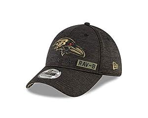 New Era Men's Heather Black Baltimore Ravens 2020 Salute to Service 39THIRTY Flex Hat