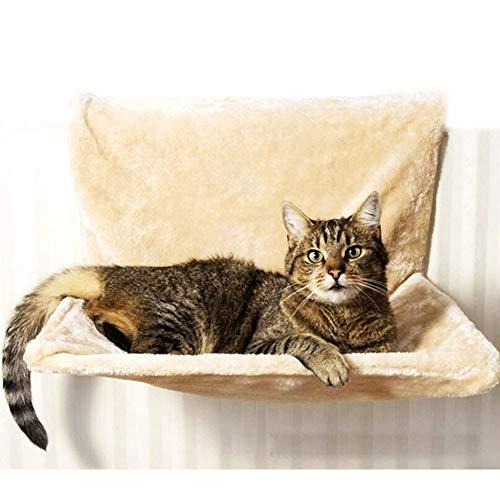 BAKAJI Lettino Amaca Cuccia da termosifone per Gatti Relax 46 x 30 x 26 cm sfoderabile e Lavabile. Utilizzo Facile ed Immediato, Calore per Il Tuo Gatto