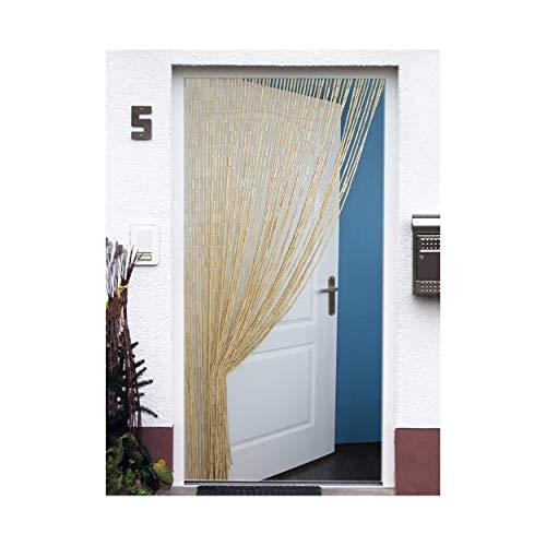 Hogar y Mas Cortina para Puerta de Bambú Natural, Color Natural, Sostenible, Exenta de Plásticos, 90x200cm