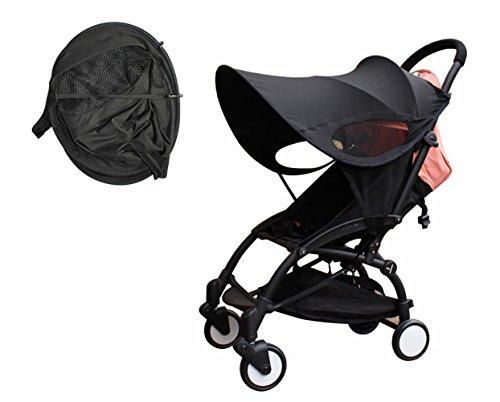 Bébé Poussette Sun Ray Shade Pram Protection UV Couverture, Weather Shield, Universel, Coton LYCRAR Pour Les Enfants Infantiles- 4 Couleurs, Noir