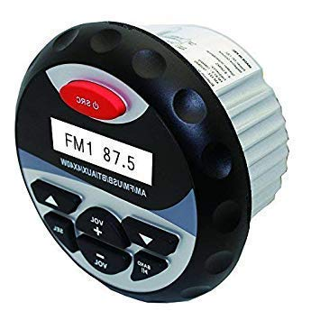 Bluetooth Estéreo Radio Marítima Audio Impermeable USB Reproductor MP3 FM AM Receptor AUX RCA para Barco Yacht ATV UTV Motocicleta Baño Piscina al aire libre