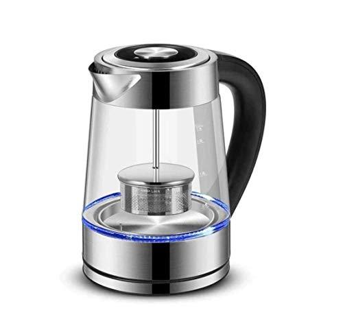 ZOUSHUAIDEDIAN Caldera de té eléctrica - Vaso de Agua Caliente Pot, Luces LED de Temperatura Variable Fast Control de calefacción Apagado automático y el hervido sin Agua Protección 1.7L