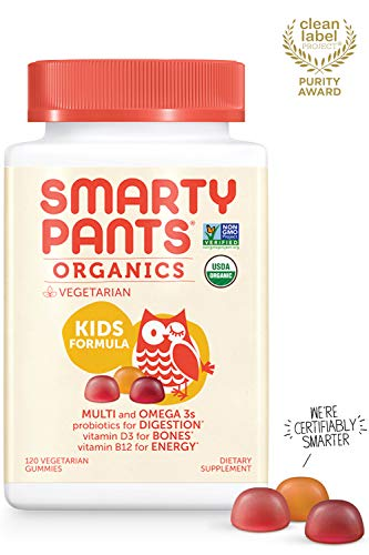 Daily Organic Gummy Kids Multivitamin: Probiotic, Vitamin C,...