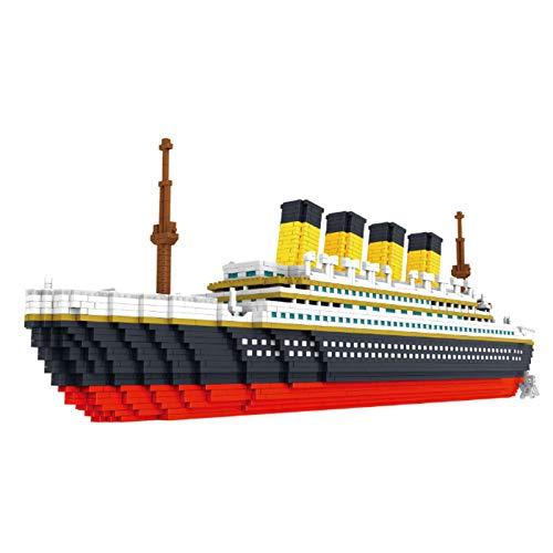 LHANZ Juego de Bloques de construcción Titanic, pequeñas partículas, Rompecabezas para niños, Juguetes de ensamblaje de Bricolaje, Adornos de decoración, Regalo
