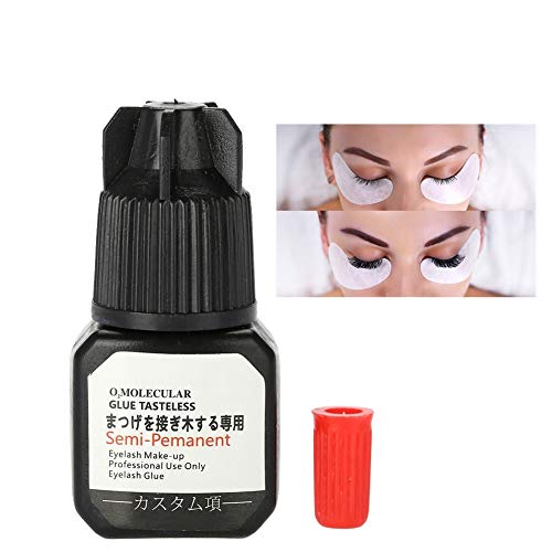 Professional Eyelash Extension Glue - 2 Sec Drying time, Retention – 7 weeks, Formaldehyde & Latex Free, Professional Use Only, 7 ml - Black Adhesive for Individual Lash Extension