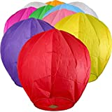 ACTIMOB MKTD Biodegradable Flying Paper Chinese Sky Lanterns (Mix Colour) - 10 Pack