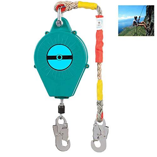 ZHDLJ Höhensicherungsgerät Absturzsicherung Abseilgerät mit Stahlseil, Auffanggurt Absturzsicherung Gurt für Dach und Luftarbeiten, Klettern Sicherungsgeräte, Laden Sie 150 Kg