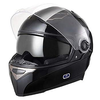 AHR Run-F DOT Motorcycle Full Face Helmet Dual Visors Sun Shield Lightweight ABS Air Vent Motorbike Touring Sports