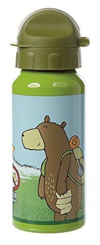 sigikid, Jungen, Trinkflasche mit Drehverschluss 0,4 l, Forest Grizzly, Grün, 24768