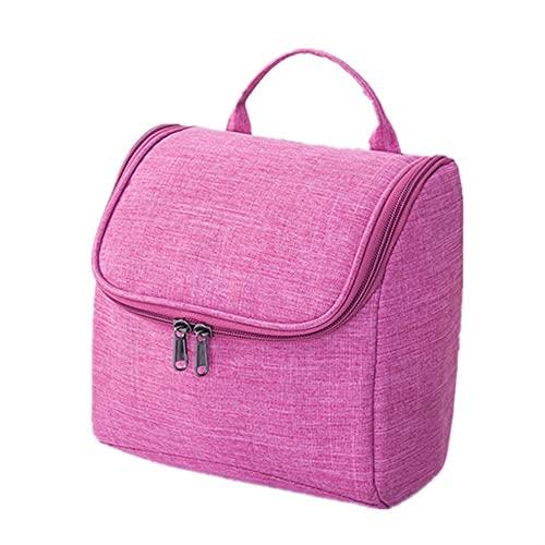 HBYXGS Impermeable Bolso Cosmético para Hombres Oxford Bolsa De Almacenamiento De Viajes Mujeres Cosmetic Bag (Color : Rose Red)