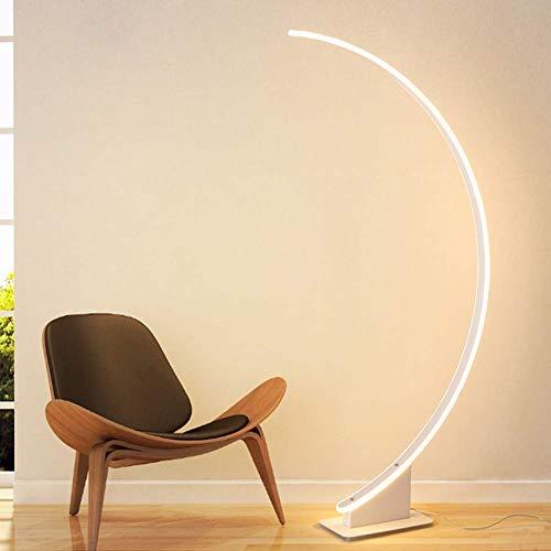 Lámpara de pie de arco moderna, lámpara de lectura LED Lámpara de mesa de transmisión de acrílico vertical moderna Sala de estar Dormitorio Sala de estudio Lámpara de piano Lámpara de pie de ahorro d