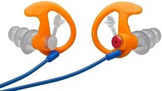 SureFire EP4 Sonic Defenders Plus filtered Earplugs, triple flanged design, reusable, Orange, Medium