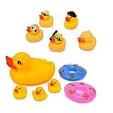 Flanacom Badeenten Quietscheenten Set - Baby Wasserspielzeug Badespielzeug Badewannenspielzeug - Kinder Spielzeug für die Badewanne - Scherzartikel (Set 2)